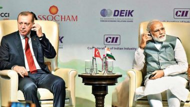 India Issues Demarche to Turkey Over President Recep Tayyip Erdogan's Remarks on Jammu and Kashmir