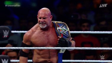 WWE Super ShowDown 2020 Results and Highlights: Goldberg Begins Universal Title Reign With WCW-Style Win Over 'The Fiend' Bray Wyatt, Brock Lesnar Squashes Ricochet & More (View Pics)