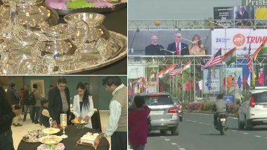 Donald Trump, Melania Trump's India Visit: From Gold-Plated Tableware to Silver-Made Key, Grand Preparations Underway to Accord 'Memorable Welcome' to US President And First Lady