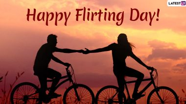 Happy Flirting Day 2020 Wishes: WhatsApp Messages, Facebook Quotes, GIF Images, HD Wallpapers to Send Your Crush During Anti-Valentine Week