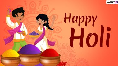 Happy Holi 2020 Wishes in Advance: WhatsApp Stickers, GIF Images, Holika Dahan Messages, Greetings to Send Ahead of Festival of Colours