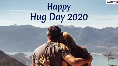 Happy Hug Day 2020 Images For Husband-Wife & HD Wallpapers For Free Download Online: Wish On Sixth Day of Valentine Week With WhatsApp Stickers and GIF Greetings