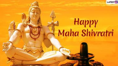 Maha Shivratri 2020 Greetings: WhatsApp Stickers, Lord Shiva GIF Images, Facebook Greetings and SMS to Send Wishes of This Auspicious Festival