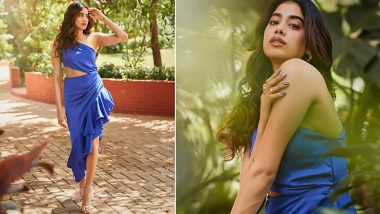 Janhvi Kapoor Gets Her Pop of Blue-Tiful, Looks Downright Smashing on a Hot Summer Afternoon!