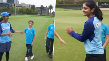 Jemimah Rodrigues Shakes Her Legs Again, Teaches Bollywood Dance Step to Australian Kids (Watch Video)