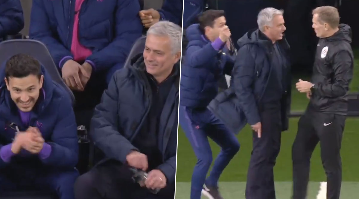 Watch Jose Mourinho's Hilarious Reaction As Raheem Sterling Avoids Red Card During Tottenham Hotspur vs Manchester City Clash in Premier League 2019-20