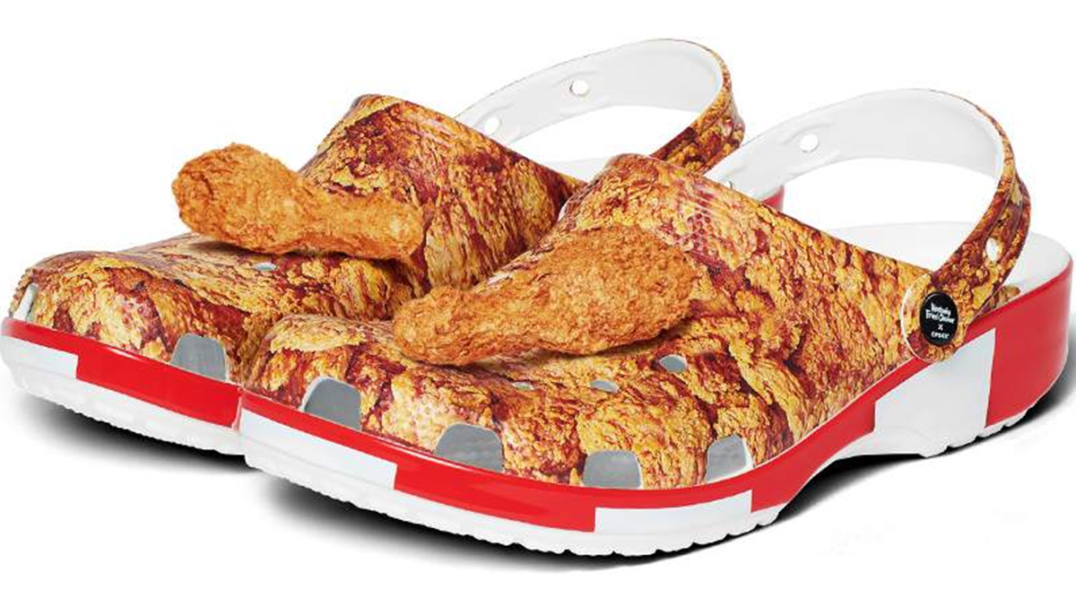 Fried Chicken Shoes, Anyone? KFC and Crocs Make Shoes That Look Like the Popular Chicken Dish