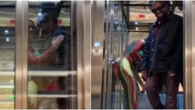 Kanye West Left Kim Kardashian in Elevator to Pick Up All Their Bags and Twitterati Can't Deal With It, Check Funny Reactions on Viral Video