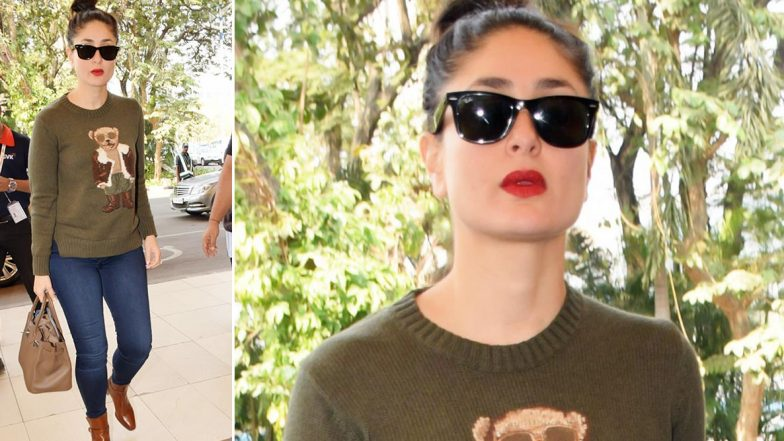 Kareena Kapoor Khan Gives Her Expensive Ralph Lauren Polo Bear Sweater a Casual Chic Spin!