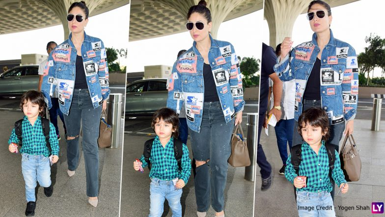 Kareena Kapoor Khan and Taimur's Uber Stylish Airport Style is What We Call GOALS (View Pics)