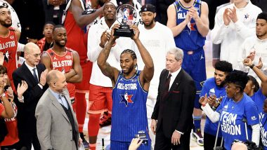 2020 NBA All-Star Game: Kawhi Leonard Wins First-Ever MVP Trophy Named After Lakers Legend Kobe Bryant