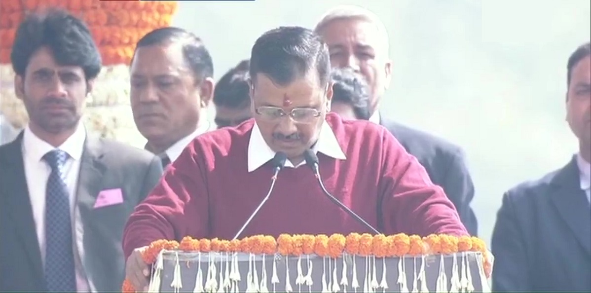 Arvind Kejriwal Takes Oath as Delhi Chief Minister For 3rd Consecutive Term, Seeks Blessings From PM Narendra Modi