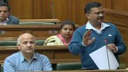 Arvind Kejriwal Condemns Violence Over CAA in Delhi Assembly, Blames 'External Elements' For Clashes That Claimed 22 Lives So Far
