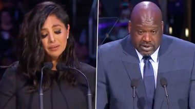 Kobe Bryant's Memorial Service: Wife Vanessa Bryant's Emotional Speech and Friend Shaquille O'Neal's NSFW Quote Were Among The Memorable Moments (Watch Videos)