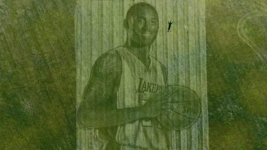 Kobe Bryant's Mural: Californian Couple Uses Lawnmower and GPS to Create Massive Artwork of the NBA's Legend (Watch Video)