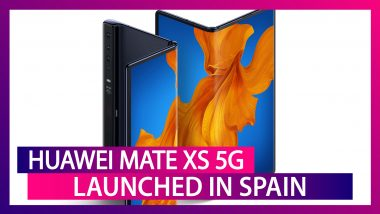 Huawei Mate Xs 5G Foldable Phone With Kirin 990 SoC Launched in Spain