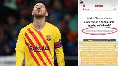 Lionel Messi Hits Out At Barcelona Sporting Director Eric Abidal Over Squad Criticism