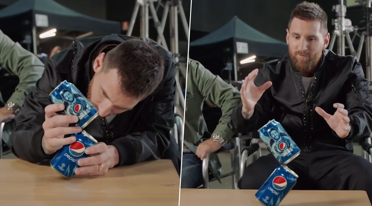 Lionel Messi Takes Pepsi Can Challenge, Leaves Fans Super Impressed With The Balancing Act (Watch Video)