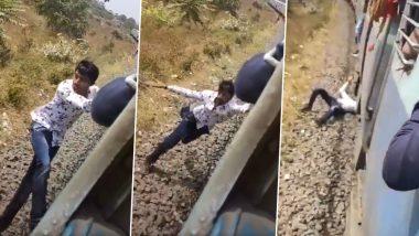 TikTok User Falls off Moving Train as Stunt Goes Wrong, Railway Minister Piyush Goyal Shares Horrifying Video on Twitter