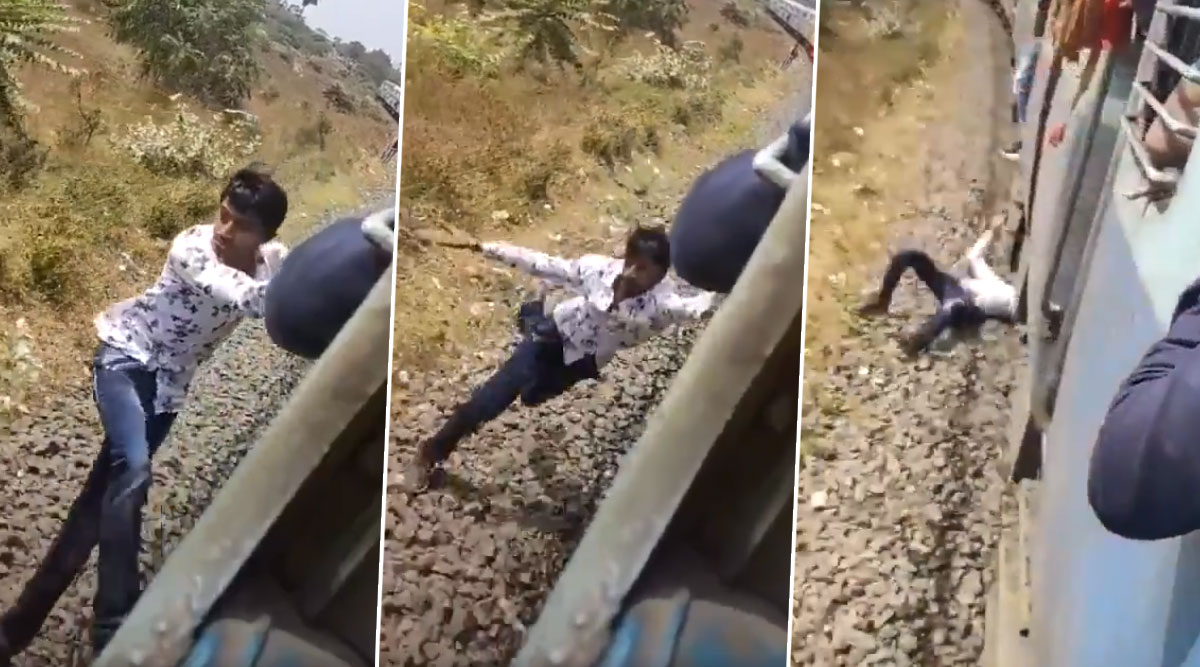TikTok User Falls off Moving Train as Stunt Goes Wrong, Railway Minister Piyush Goyal Shares Horrifying Video on Twitter
