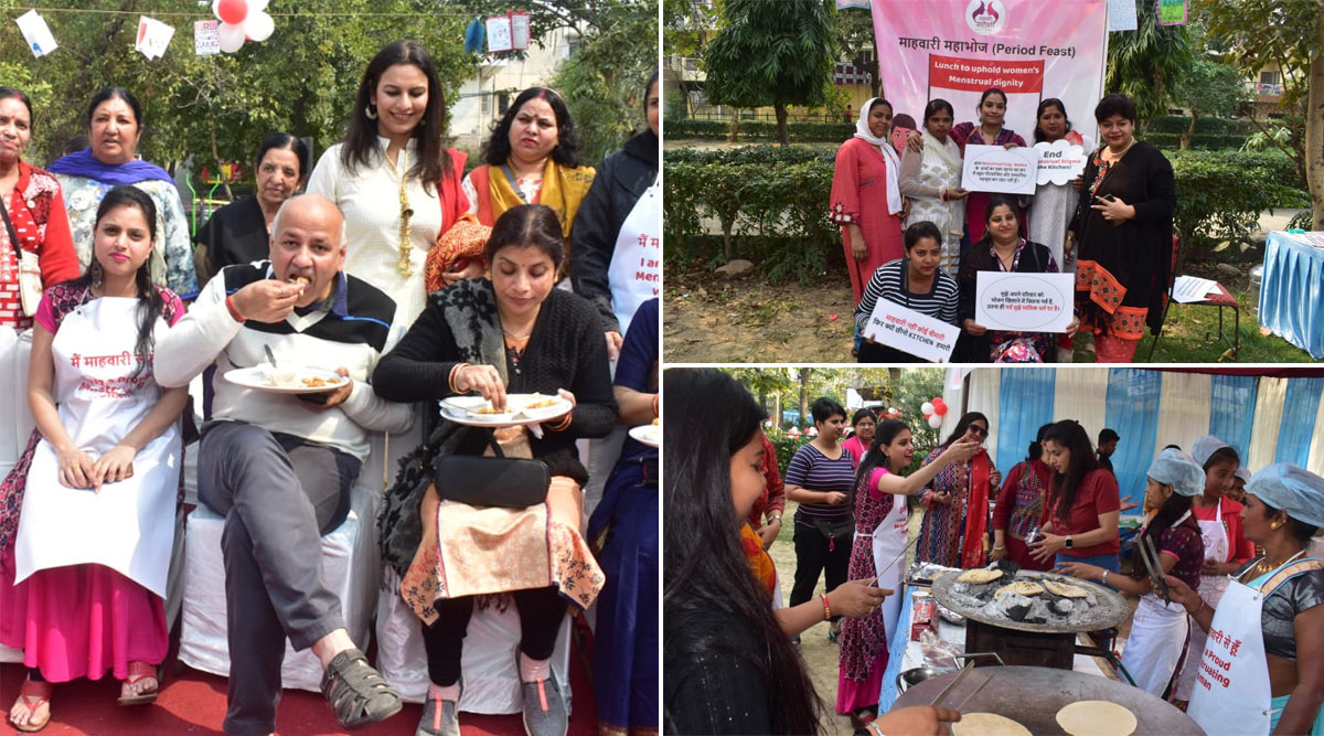 'Period Feast' Organised by Menstruating Women of NGO Sachhi Saheli in Delhi in Response to Bhuj Incident, Deputy CM Manish Sisodia Participates in Mahabhoj