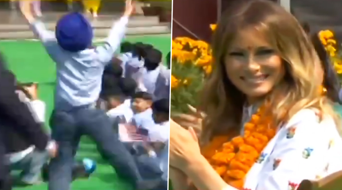 Sardar Kid Dancing at Delhi Govt School Leaves Melania Trump Impressed With His Bhangra Moves And It is Pure 'Happiness'; Watch Viral Video