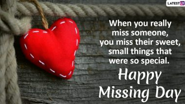 Missing Day 2021 Wishes, HD Images & Wallpapers: Send Messages, Greetings WhatsApp Stickers, Missing Quotes, Telegram Photos & GIFs During Anti-Valentine's Week