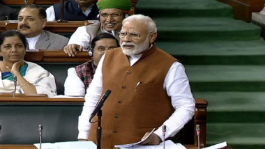 PM Narendra Modi Takes Stinging Jibe at Rahul Gandhi in Lok Sabha, Says 'Many Tubelights Are Like This' (Watch Video)