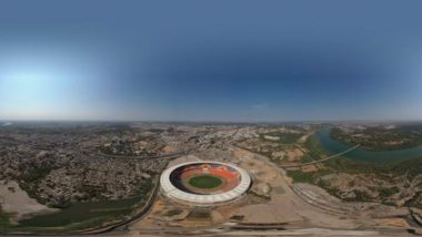 Motera Stadium First Look: BCCI Shares Aerial Pic of World's Largest Cricket Venue in Ahmedabad