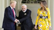 Donald Trump India Visit Live News Updates: Horse-Riding Police Personnel Conduct Patrolling Outside Motera Stadium in Ahmedabad