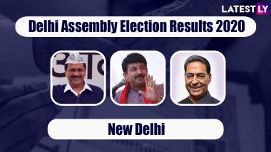 Delhi Assembly Elections 2020 Results From New Delhi: AAP Wins All 10 Seats, Arvind Kejriwal Set To Return as CM For Third Time