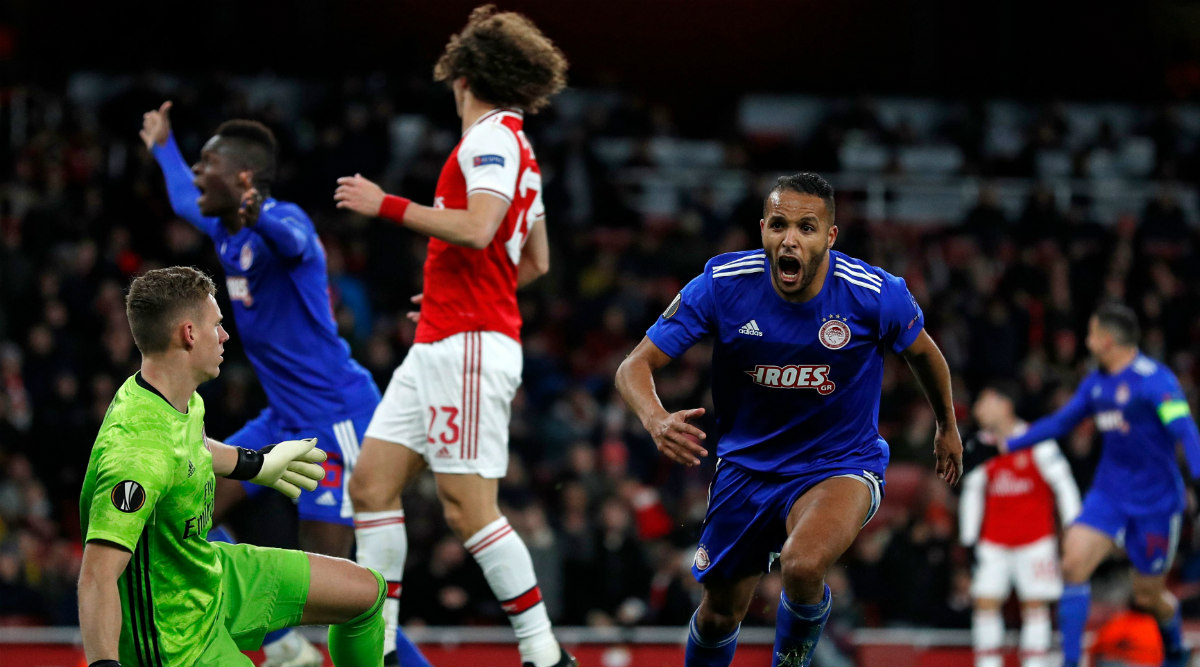 Arsenal 1–2 Olympiacos, UEFA Europa League 2019–20: Gunners Knocked Out of Europe After Shock Defeat at Emirates