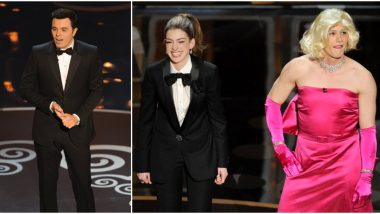 Oscars 2020: From Seth MacFarlane's 'We Saw Your Boobs' Ballad to Anne Hathaway and James Franco's 'No Chemistry' Hosting, Here Are 5 Worst Academy Awards Hosts (Watch Videos)