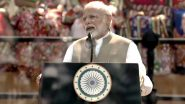 Namaste Trump: PM Narendra Modi Welcomes His 'Good Friend' Donald Trump Amid Huge Roars From Crowds at Motera Stadium, Says 'India-US Relations Not Just Partnership'