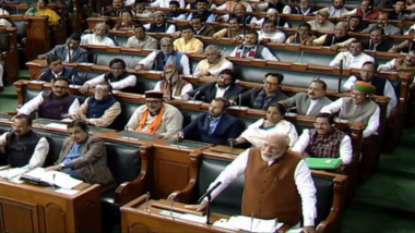 Article 370, Ram Janmabhoomi Issues Would Have Remained Pending Had We Worked in Old Ways, PM Narendra Modi Tells Parliament During Reply to Motion of Thanks on President's Address