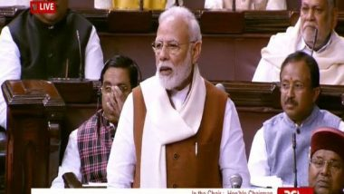 PM Narendra Modi Reacts to Economic Slowdown in Rajya Sabha, Says 'Fundamentals of Indian Economy Strong'