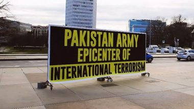 Pakistani Minorities Put Up Posters Outside UN Office in Geneva, Write 'Pakistan Army Epicenter of International Terrorism'