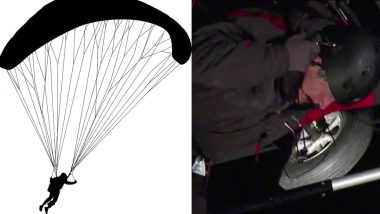 Paraglider Flies Into Power Lines While Trying To Land in California, Rescued After Three Hours (Watch Video)