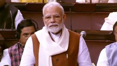 PM Narendra Modi Tears Into Congress During Reply on Motion of Thanks to President's Address in Rajya Sabha, Speaks on CAA, Article 370, $5 Trillion Economy, GST And POSCO Act Among Other Issues