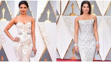 Oscars 2020: Priyanka Chopra Says She Won't Be Attending the 92nd Academy Awards, Asks Fans to Vote for Her Throwback Red Carpet Looks