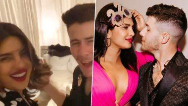 Nick Jonas Dances to 'Aankh Marey' and Priyanka Chopra Jonas Just Cannot Stop Cheering For Her Valentine (Watch Video)