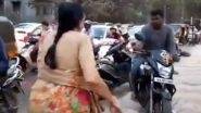 Pune: Elderly Woman Scolds And Stops Bikers Driving on Footpath and Breaking Traffic Rules, Video Goes Viral