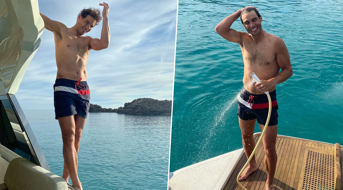 Rafael Nadal Ecstatic After Returning to Home, Spanish Tennis Star Enjoys Fun Time by Swimming in Mallorca (View Video and Pics)