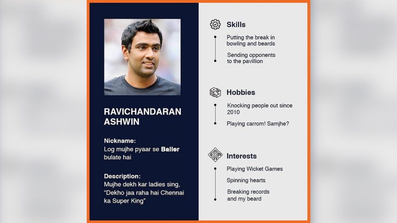 Ravichandran Ashwin Buzzes Instagram With Intriguing CV, Flaunts Cricket Skills in Creative Style! (See Post)