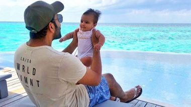 Rohit Sharma Posts an Adorable Picture With Baby Samaira, Indian Cricket Team Opening Batsman Calls His Daughter 'Cookie Monster'