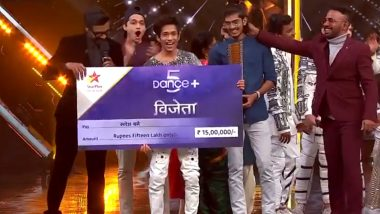 Dance Plus 5 Winner: Rupesh Bane From Mumbai Takes the Trophy and Prize Money Home (Watch Video)