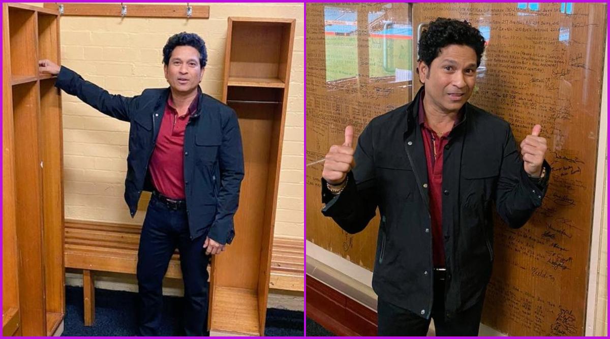 Sachin Tendulkar Revisits SCG Dressing Room, Yuvraj Singh Gets Behind the Camera Ahead of Bushfire Cricket Bash Match; See Pics