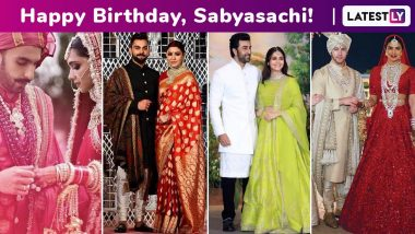 Sabyasachi Birthday Special: Top 10 Iconic Looks That the Feted Designer Immortalized for Deepika Padukone, Priyanka Chopra, Anushka Sharma and Alia Bhatt!