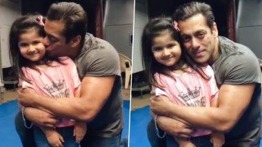 Salman Khan Gets Mushy as He Hugs and Kisses His Little Fan (Watch Video)
