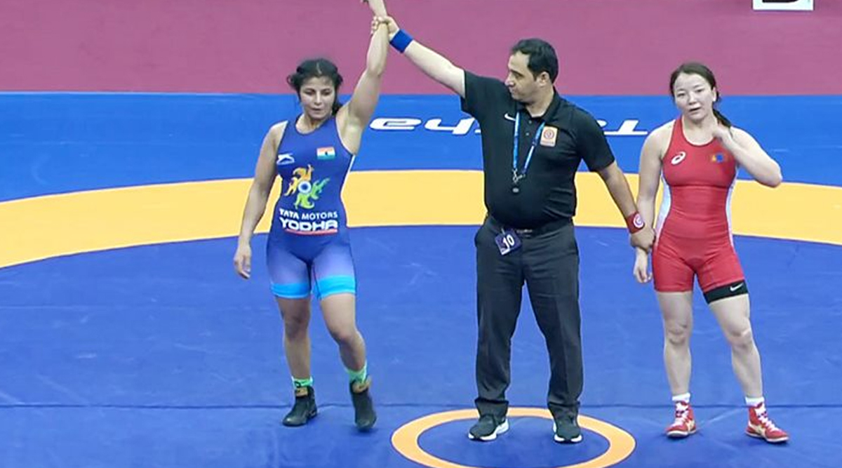 Sarita Mor Wins India's Third Gold Medal in Women's Category at 2020 Asian Wrestling Championship, Beats Mongolian Battsetseg Atlantsetseg